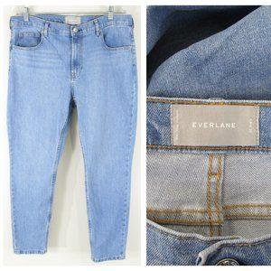 Everlane Plus Sz Light Wash High Rise Ankle Jeans